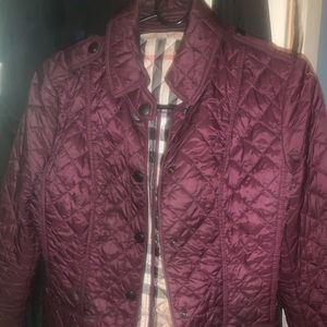 Woman's Burberry Quilted Jacket Xs purple